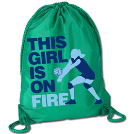 Volleyball Sport Pack Cinch Sack This Girl Is On Fire