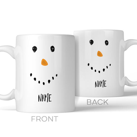 Snowman Face Personalized Mug