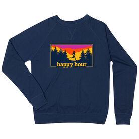 Running Raglan Crew Neck Sweatshirt - Happy Hour