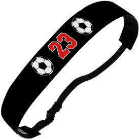 Soccer Julibands No-Slip Headbands - Ball Icons with Number