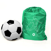 Soccer Sport Pack Cinch Sack - Soccer Guy Player Sketch