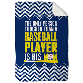 Baseball Sherpa Fleece Blanket Tougher Than A Baseball Player