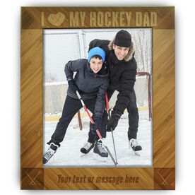 Hockey Bamboo Engraved Picture Frame Hockey Dad
