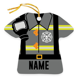 Personalized Ornament - Firefighter Outfit
