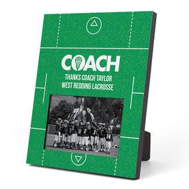 Guys Lacrosse Photo Frame - Coach (Field)