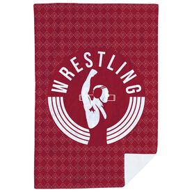 Wrestling Premium Blanket - Winners Never Quit