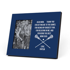 Girls Lacrosse Photo Frame - Dear Mom Heart