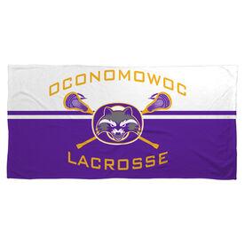 Beach Towel - Oconomowoc Lacrosse Logo