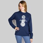 Volleyball Long Sleeve T-Shirt - Volleyball Snowman