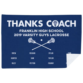 Guys Lacrosse Premium Blanket - Thanks Coach (Horizontal)