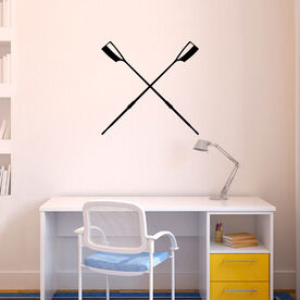 Crossed Oars Removable ChalkTalkGraphix Wall Decal