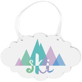 Skiing Cloud Sign - Ski Mountain