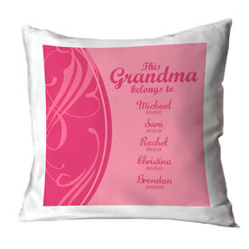 Personalized Throw Pillow - This Grandma Belong's To