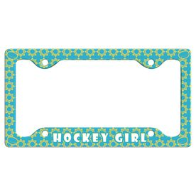 Hockey Girl License Plate Holder