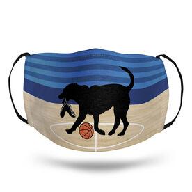 Basketball Face Mask - Baxter the Basketball Dog Court