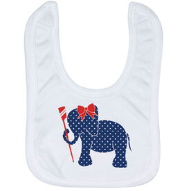 Crew Baby Bib - Crew Elephant with Bow