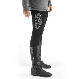 Running High Print Leggings - May The Course Be With You