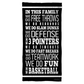 Basketball Beach Towel We Do Basketball