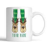 Reindeer Slippers Personalized Mug