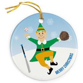 Baseball Porcelain Ornament Elf