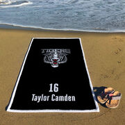Hockey Premium Beach Towel - Custom Team Logo