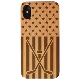 Hockey Engraved Wood IPhone® Case - USA Hockey