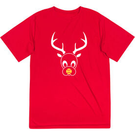 Softball Short Sleeve Performance Tee - Reindeer
