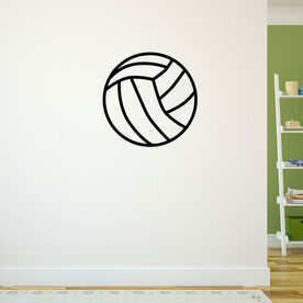 Volleyball Ball Removable ChalkTalkGraphix Wall Decal
