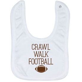 Football Baby Bib - Crawl Walk Football