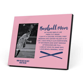 Baseball Photo Frame - Baseball Mom Poem