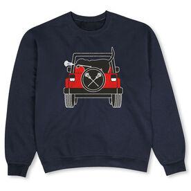 Guys Lacrosse Crew Neck Sweatshirt - Chillax Cruiser