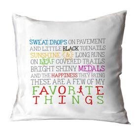 Running Throw Pillow Favorite Things