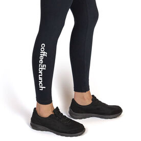Running Leggings - Coffee Run Brunch