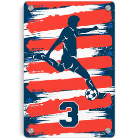 Soccer Metal Wall Art Panel - Personalized USA Player