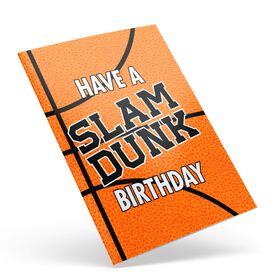 Basketball Birthday Greeting Card - Slam Dunk