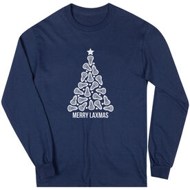 Lacrosse Long Sleeve T-Shirt - Merry Laxmas Tree