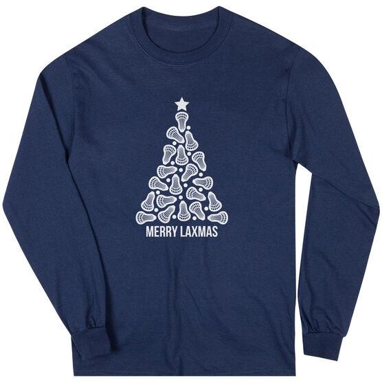 Lacrosse Long Sleeve T-Shirt - Merry Laxmas Tree
