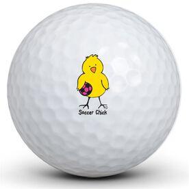 Soccer Chick Golf Balls