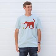 Softball Tshirt Short Sleeve Pitch The Softball Dog