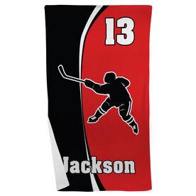 Hockey Beach Towel Personalized Slapshot