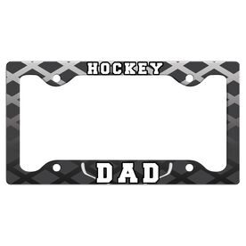 Hockey Dad License Plate Holder