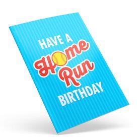 Softball Birthday Greeting Card - Home Run