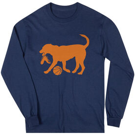 Basketball Tshirt Long Sleeve Baxter The Basketball Dog