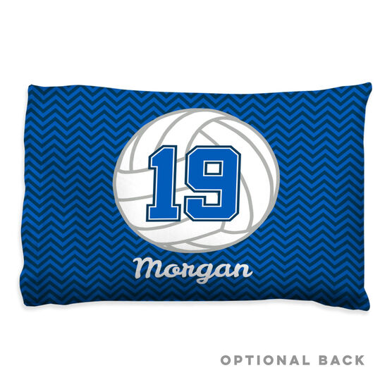 Volleyball Pillowcase - Personalized Volleyball With Chevron