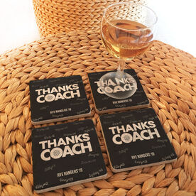 Volleyball Stone Coasters Set of Four - Coach (Autograph)
