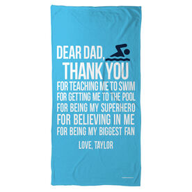 Swimming Beach Towel Dear Dad