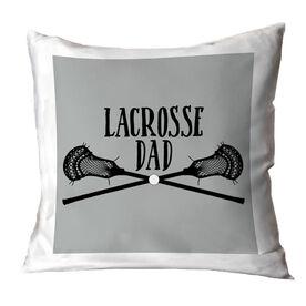 Guys Lacrosse Throw Pillow - Lacrosse Dad