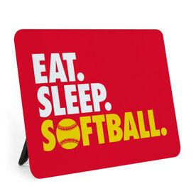 Softball Desk Art - Eat. Sleep. Softball.