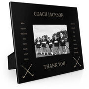 Field Hockey Engraved Picture Frame - Team Name With Roster (Coach)