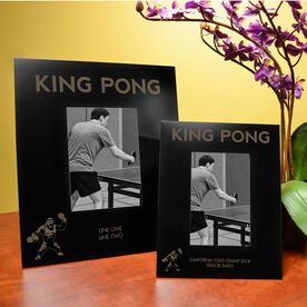 Ping Pong Engraved Picture Frame - King Pong